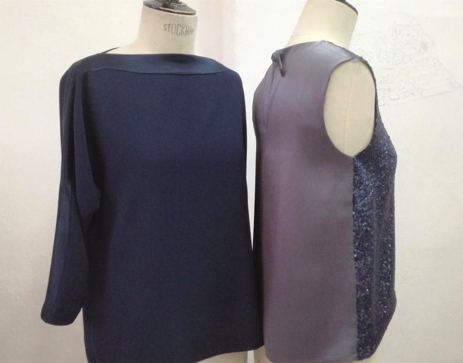 KIMONO  top sequins PIVOINE